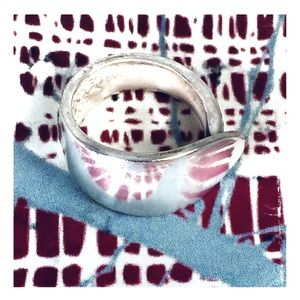 Silver Spoon Ring Vintage Boho Women's size 8